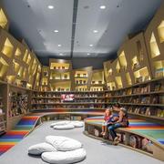 超有科技感大户型儿童书店设计效果图
