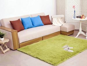 韩式时尚小客厅家居青色地毯效果图片