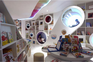 创意十足儿童小户型书店设计效果图