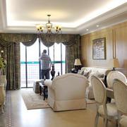 别墅欧式奢华风格客厅落地窗装修效果图