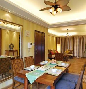 两室一厅东南亚风格餐厅家具餐桌椅装修