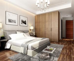 中性冷色调公寓卧室地毯装修效果图片