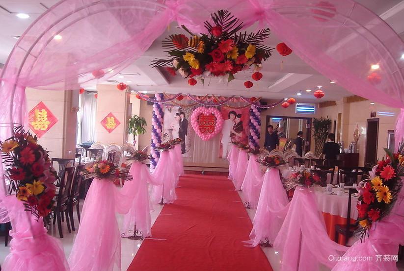 高贵优雅的大户型美式婚礼现场布置图片