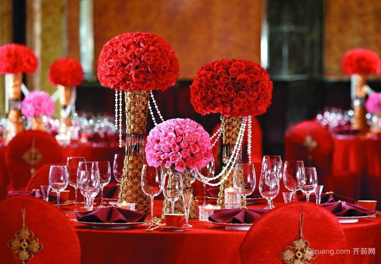 浪漫韩式大型婚礼现场布置图片