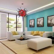小户型都市简约风格客厅沙发装修效果图