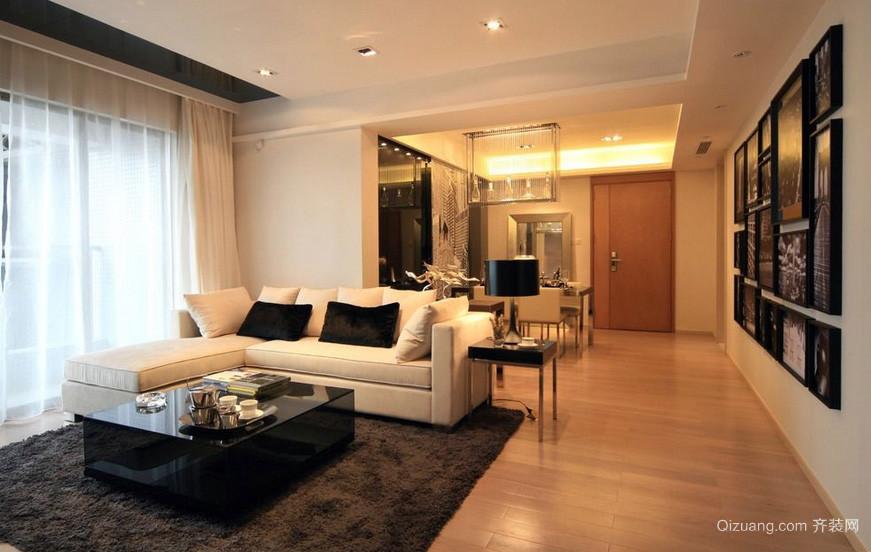 120平米简约家居客厅地毯装修效果图片
