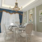现代欧式大户型餐厅装修效果图鉴赏