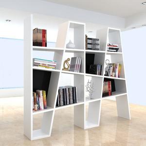 个性家居书房白色收纳书柜装修效果图
