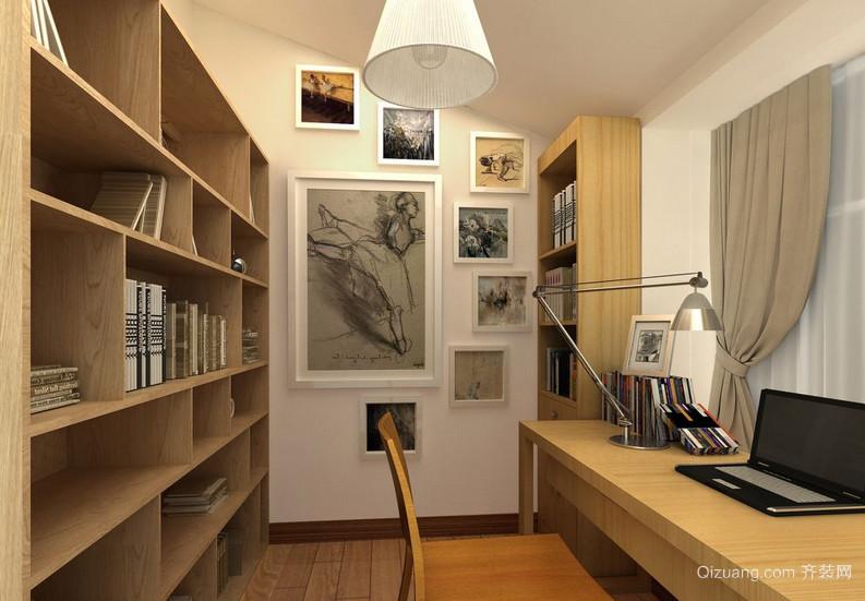 精美的舒适大户型书房装修效果图