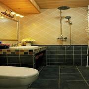地中海现代简约洗手间装修效果图