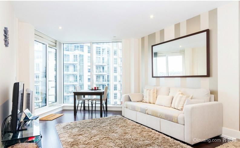 北欧式小户型家居客厅地毯装修效果图片