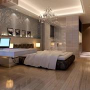 现代简约风格公寓卧室床头背景墙装饰