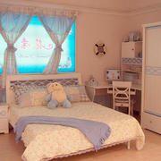 两室一厅韩式清新风格儿童床装修效果图