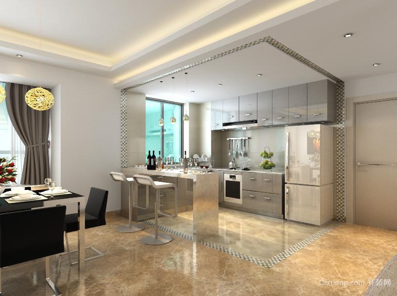 现代精致的大户型厨房装修效果图
