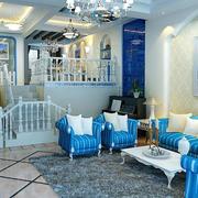 地中海简约客厅沙发装饰