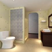 北欧大户型洗手间效果图