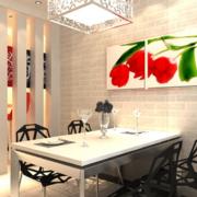 现代欧式大户型餐厅装修效果图实例
