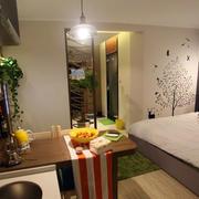 简约风格公寓卧室背景墙装饰
