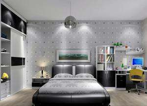 现代欧式大户型卧室衣帽间装修效果图