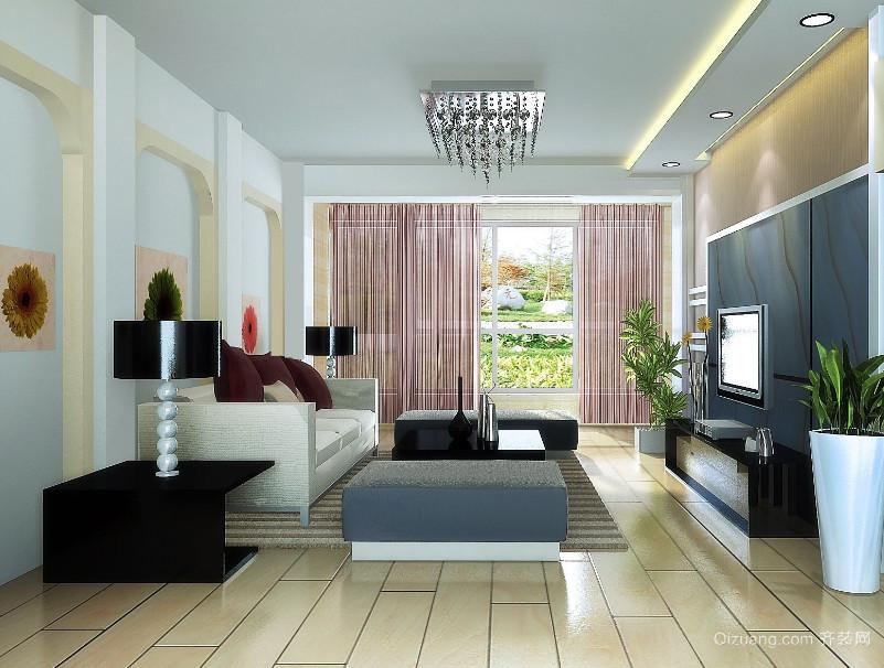 精致的现代大户型欧式客厅装修效果图