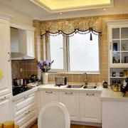 田园混搭小户型家居厨房收纳设计效果图