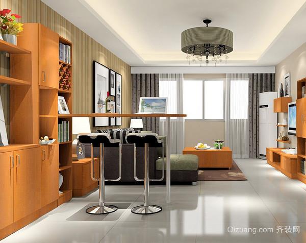 东南亚风格客厅家具整体吧台装修效果图