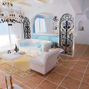 地中海客厅简约隔断装饰