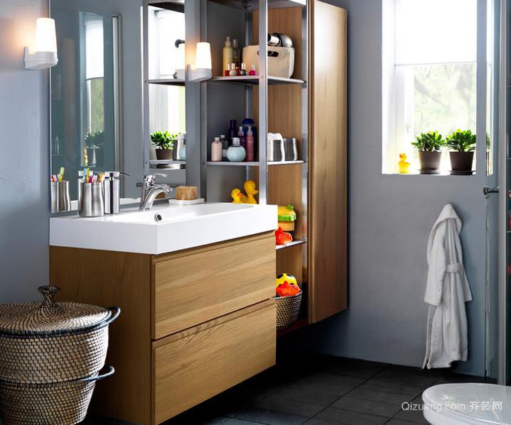 混搭风格家居小卫生间收纳装修效果图