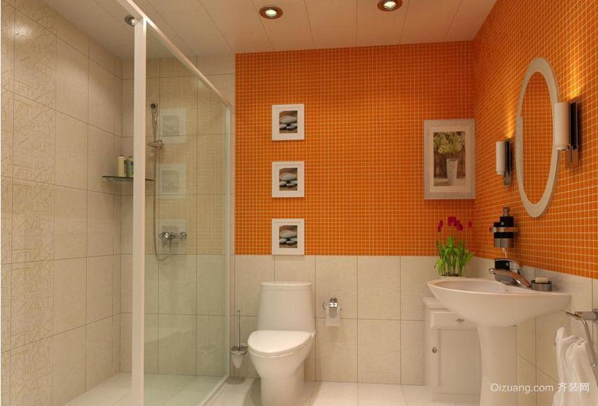 日式大户型温馨洗手间装修效果图