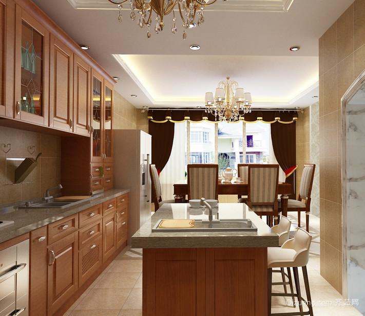 现代大户型欧式厨房装修效果图鉴赏