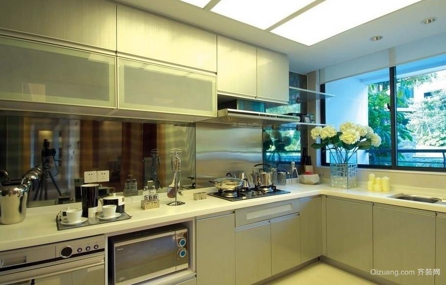 单身公寓简约风格厨房装修效果图