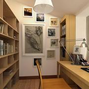 小户型深色调书房设计装修效果图