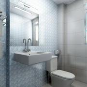 别墅纯白色调卫生间装修效果图