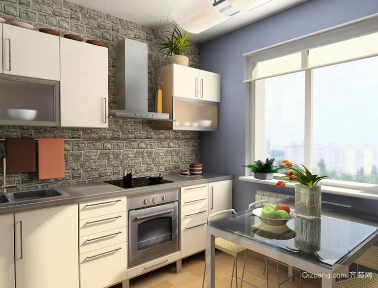 128平米清爽系列厨房装修效果图