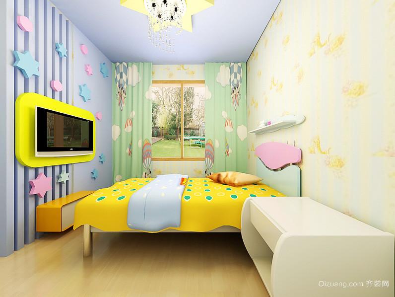 跃层充满童趣儿童房设计装修效果图
