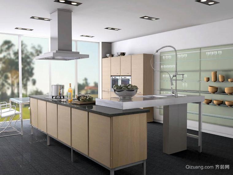复式楼欧式风格厨房装修效果图
