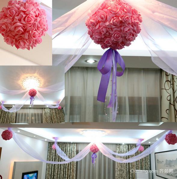 120平米浪漫型婚房布置图片