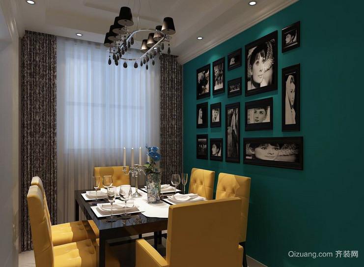 别墅唯美型餐厅背景墙效果图