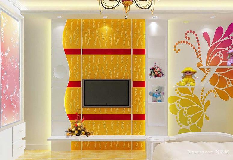 138平米简约风格客厅电视背景墙效果图