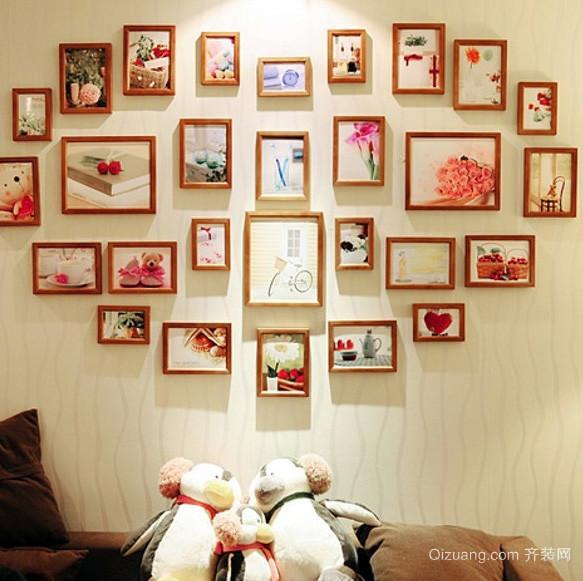 大户型自然风格照片墙设计效果图
