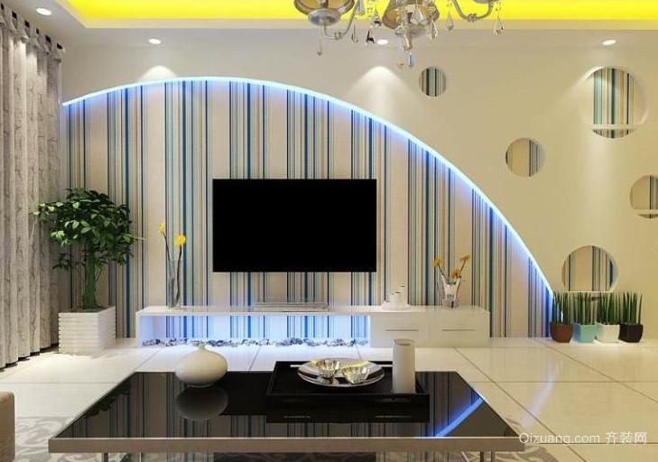 100平米时尚风格客厅电视背景墙效果图