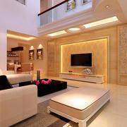 小户型唯美型客厅电视背景墙效果图