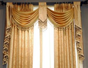 120平米时尚风格飘窗窗帘效果图