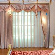 复式楼欧式风格飘窗窗帘效果图
