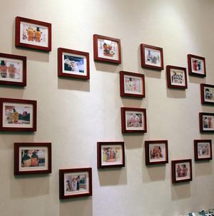 跃层心形照片墙设计效果图
