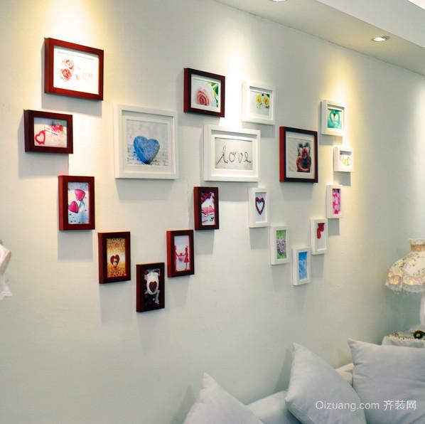 三居室精致型照片墙设计效果图