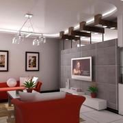 120平米梦幻型客厅电视背景墙效果图