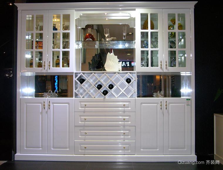 单身公寓简约风格酒柜效果图片