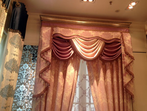 大户型宜家风格飘窗窗帘效果图