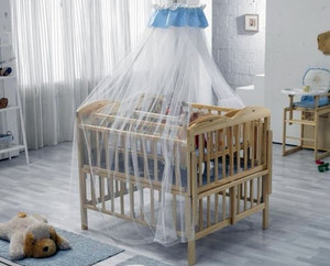 30平米美式简约风格婴儿房简约床饰装修效果图